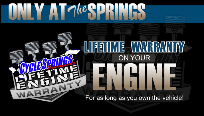 Lifetime Engine Warranty at Cycle Springs Powersports in Clearwater, FL